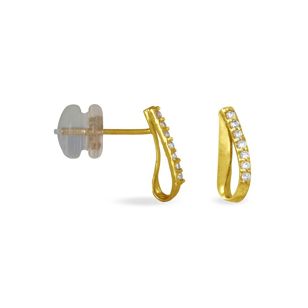 Créoles Or  - Boucles d'oreilles pendantes Femme | Histoire d'Or