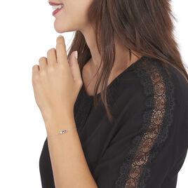 Bracelet Raika Or Blanc Amethyste Et Topaze - Bijoux Femme   Histoire d'Or