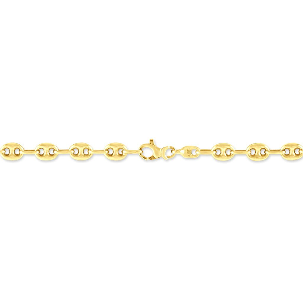 Bracelet Dami Maille Grain De Cafe Or Jaune - Bracelets chaîne Femme | Histoire d'Or