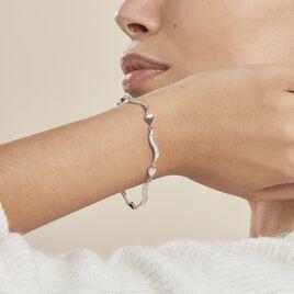 Bracelet Amor Argent Blanc Oxyde De Zirconium - Bracelets Coeur Femme | Histoire d'Or