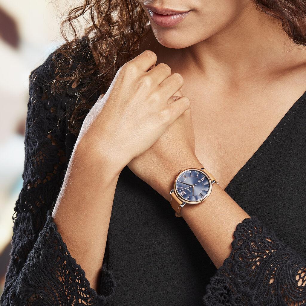 Montre Fossil Jacqueline Bleu - Montres classiques Femme | Histoire d'Or