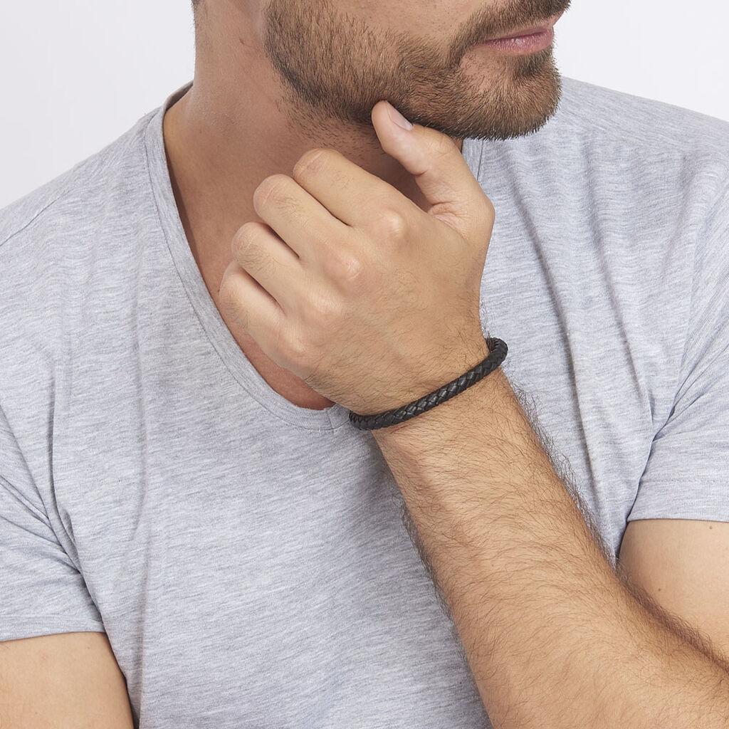 Bracelet Angelo Acier Blanc - Bracelets fantaisie Homme | Histoire d'Or
