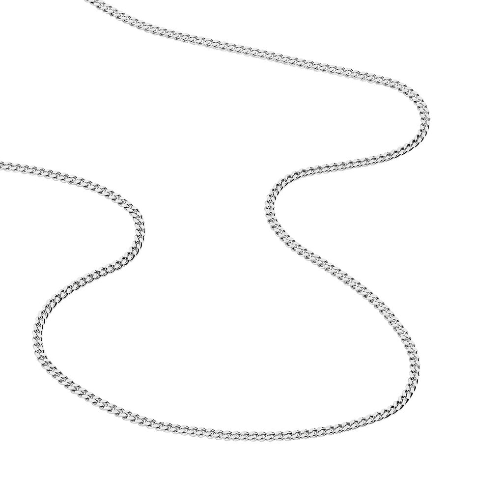 Chaîne Clementine Maille Gourmette Argent Blanc - Chaines Homme | Histoire d'Or
