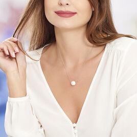 Collier Nina Cera Argent Blanc Strass Et Céramique - Colliers fantaisie Femme | Histoire d'Or