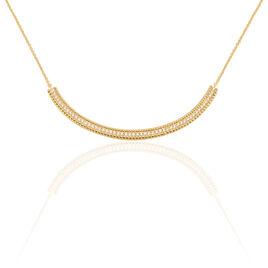 Collier Marie-baptistine Plaque Or Jaune Oxyde De Zirconium - Bijoux Femme | Histoire d'Or