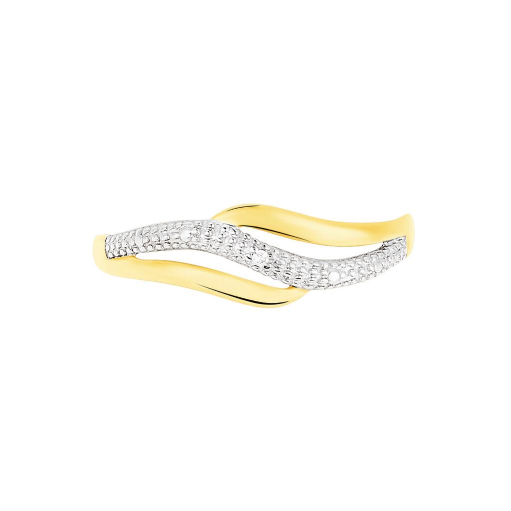 Bague Smeralda Or Bicolore Diamant - Bagues avec pierre Femme | Histoire d'Or