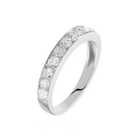 Alliance Valentine Or Blanc Diamant Synthetique - Alliances Femme | Histoire d'Or