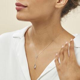 Collier Sela Or Blanc Topaze - Bijoux Femme | Histoire d'Or