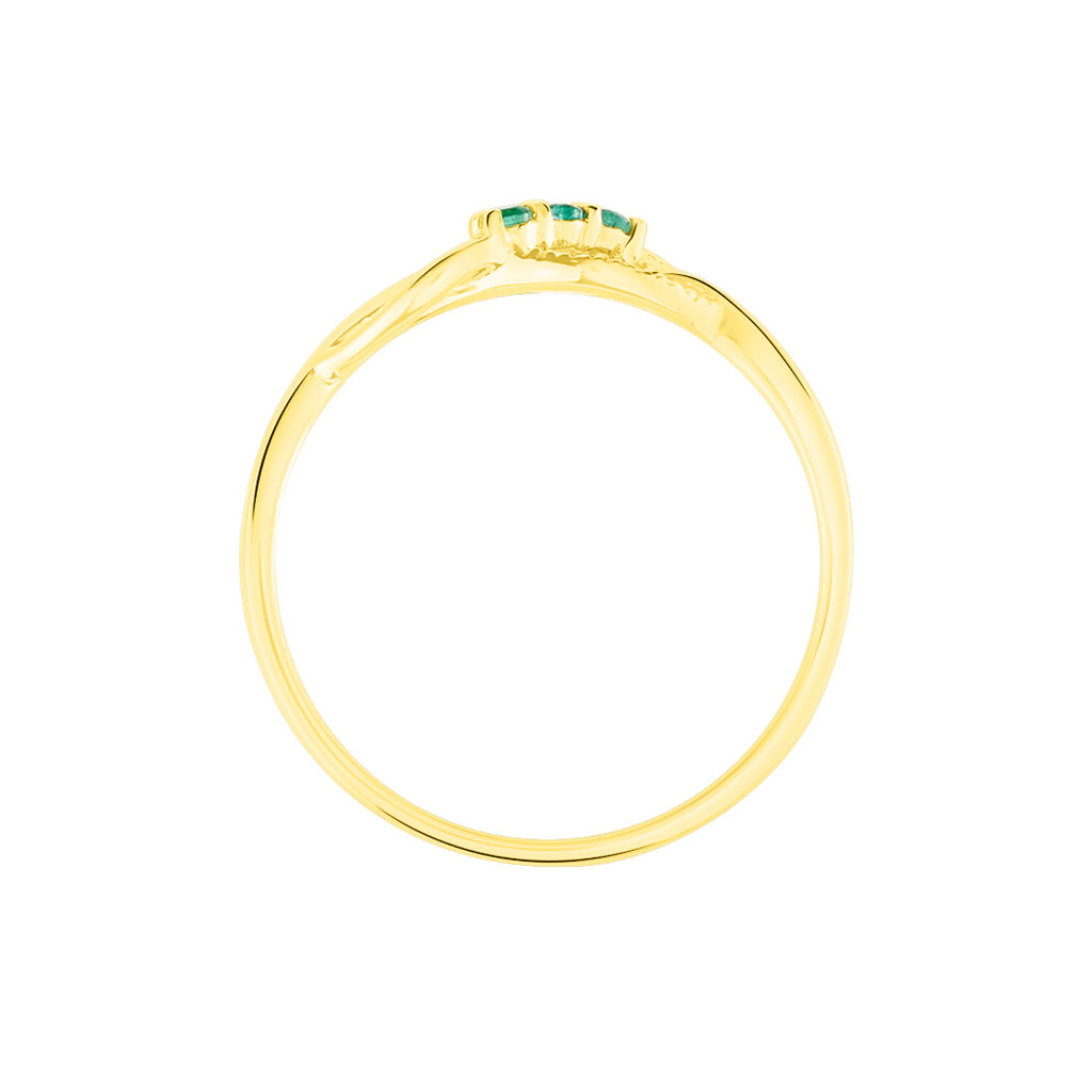 Bague Rosalyne Or Jaune Emeraude Et Diamant - Bagues avec pierre Femme | Histoire d'Or