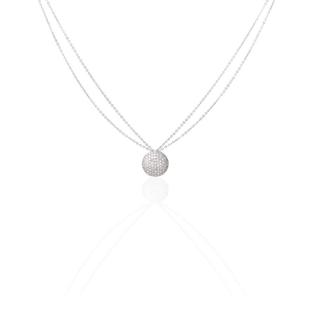 Collier Or Blanc Diamant - Bijoux Femme | Histoire d'Or