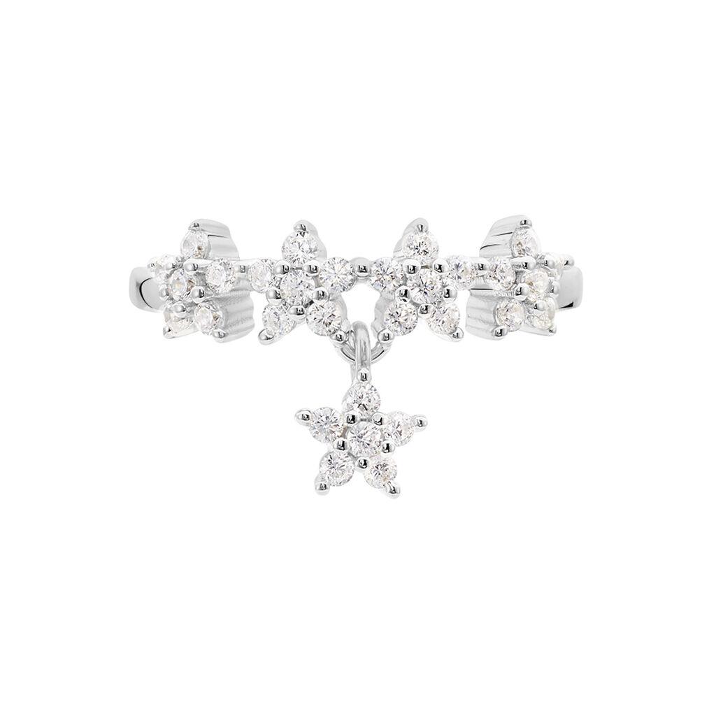 Bague Laetizia Constellation Argent Blanc Oxyde De Zirconium - Bagues Etoile Femme   Histoire d'Or