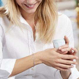 Bracelet Suzy Argent Coeur   - Bracelets Coeur Femme | Histoire d'Or