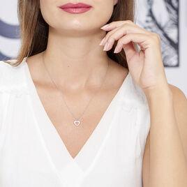 Collier Dafne Argent Blanc - Colliers Coeur Femme | Histoire d'Or