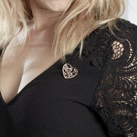 Broche Douglas Argent Rose Oxyde De Zirconium - Broches Arbre de vie Femme   Histoire d'Or