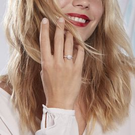 Bague Chouchou Platine Blanc Diamant - Bagues avec pierre Femme | Histoire d'Or