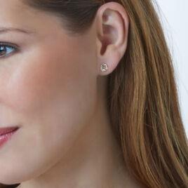 Boucles D'oreilles Puces Elo Or Jaune Diamant - Clous d'oreilles Femme | Histoire d'Or