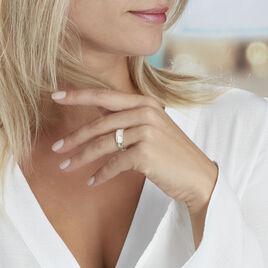 Bague Audreyanne Or Blanc Oxyde De Zirconium - Bagues avec pierre Femme   Histoire d'Or