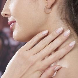 Creoles Or Rose Flexibles - Boucles d'oreilles créoles Femme | Histoire d'Or