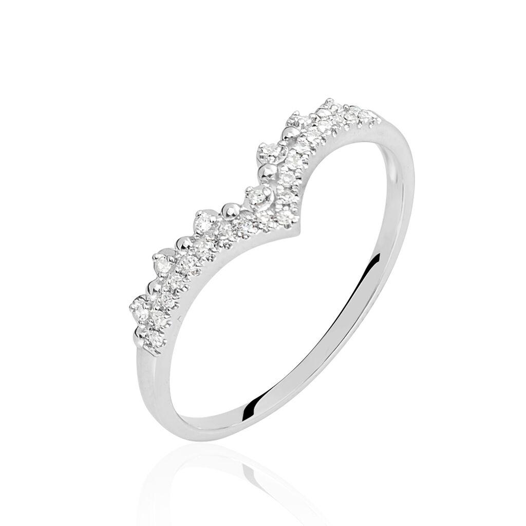 Bague Zilia Or Blanc Diamant - Bagues avec pierre Femme | Histoire d'Or