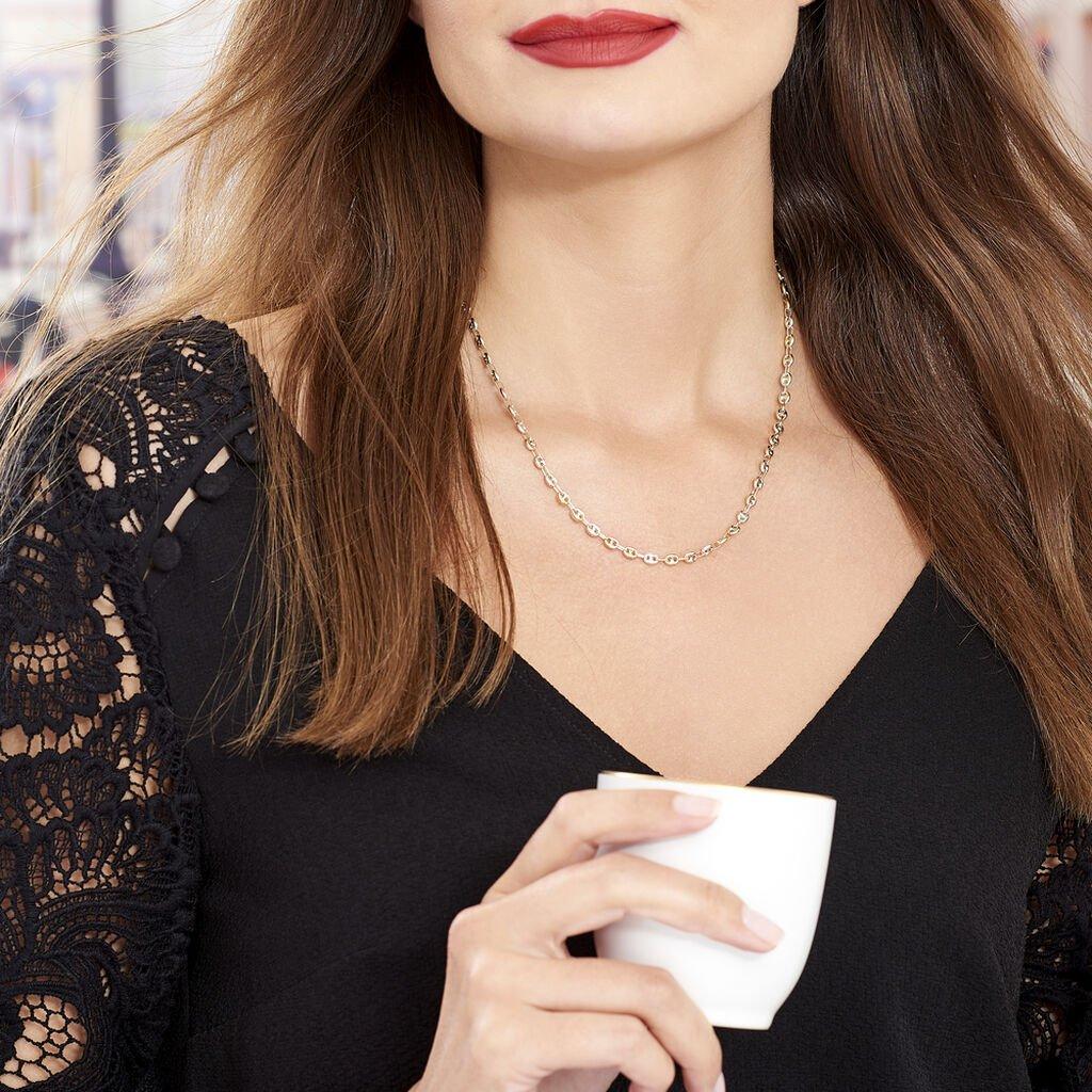 Collier Mallia Maille Grain De Café Or Tricolore - Chaines Femme   Histoire d'Or