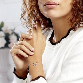 Bracelet Gioria Argent Blanc Oxyde De Zirconium - Bracelets Coeur Femme   Histoire d'Or