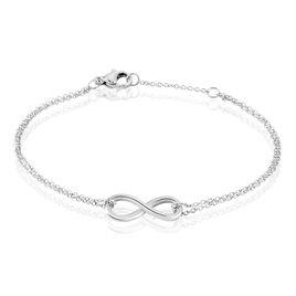 Bracelet Ynya Acier Blanc - Bracelets Infini Femme | Histoire d'Or