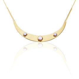 Collier Plastron Plaque Or Jaune Opale - Bijoux Femme | Histoire d'Or