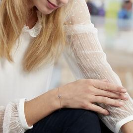 Bracelet Auxana Argent Blanc Oxyde De Zirconium - Bracelets fantaisie Femme | Histoire d'Or