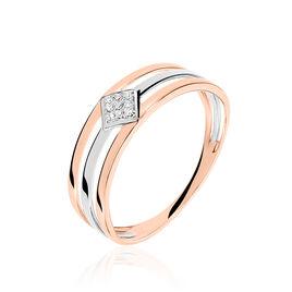 Bague Elsa Or Bicolore Diamant - Bagues avec pierre Femme | Histoire d'Or