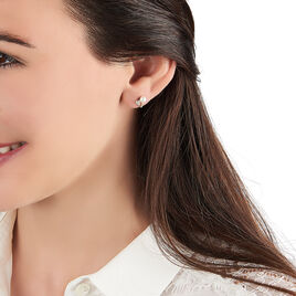 Boucles D'oreilles Puces Leopolda Or Jaune Perle De Culture - Boucles d'Oreilles Coeur Femme | Histoire d'Or
