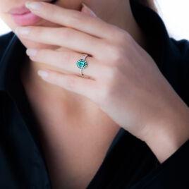 Bague Leona Or Blanc Emeraude Diamant - Bagues solitaires Femme | Histoire d'Or