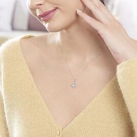 Collier Amance Or Blanc Topaze Et Oxyde De Zirconium - Bijoux Femme | Histoire d'Or