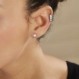 Bijoux D'oreilles Trina Argent Blanc - Boucles d'oreilles fantaisie Femme | Histoire d'Or