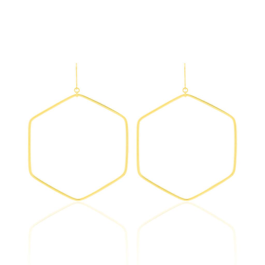 Créoles Roseane Hexagone Or Jaune - Boucles d'oreilles créoles Femme | Histoire d'Or