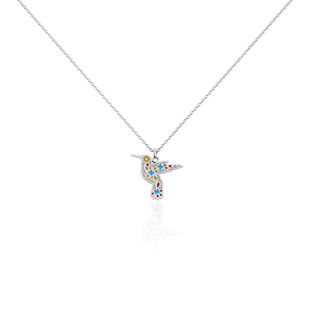 Collier Sakura Argent Blanc - Colliers fantaisie Femme | Histoire d'Or