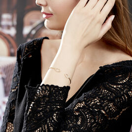 Bracelet Jonc Seth Or Jaune Oxyde De Zirconium - Bracelets joncs Femme | Histoire d'Or