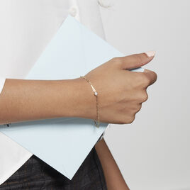 Bracelet Plaqué Or Liede Oxyde De Zirconium - Bracelets fantaisie Femme | Histoire d'Or
