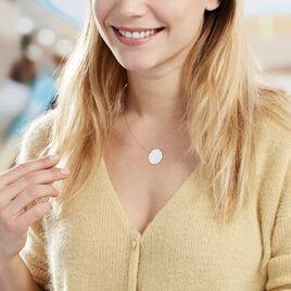 Collier Pastille Gravable Or Blanc - Bijoux Femme   Histoire d'Or
