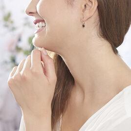 Créoles Colline Rondes Argent Rose Oxyde De Zirconium - Boucles d'oreilles créoles Femme | Histoire d'Or