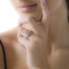 Bague Mimicha Acier Blanc Oxyde De Zirconium - Bagues avec pierre Femme | Histoire d'Or