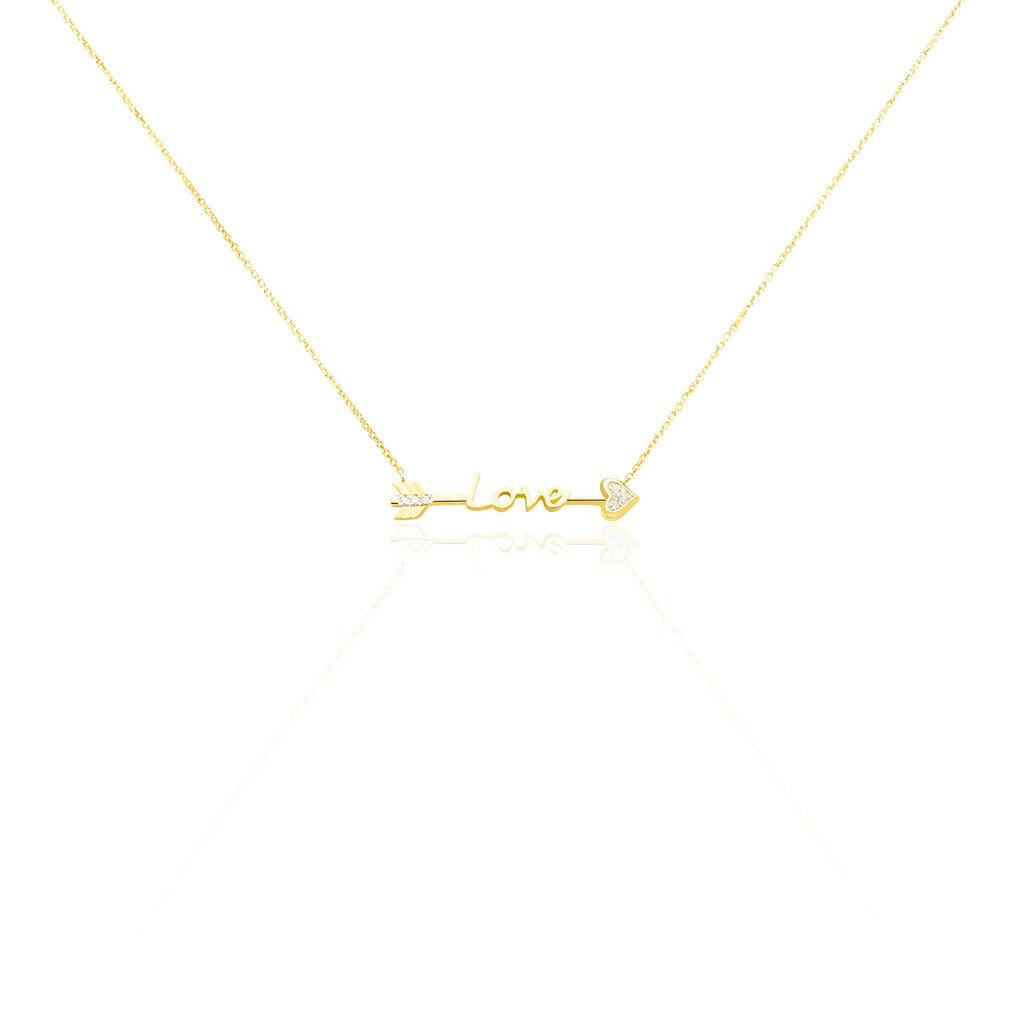 Collier Sawsene Or Jaune Diamant - Bijoux Femme | Histoire d'Or
