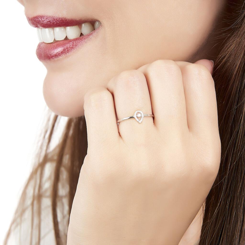 Bague Domitia Or Blanc Diamant - Bagues avec pierre Femme | Histoire d'Or