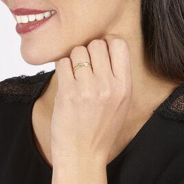 Bague Barrette Or Jaune Diamant - Bagues avec pierre Femme   Histoire d'Or