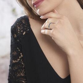 Bague Elianna Argent Blanc Oxyde De Zirconium - Bagues avec pierre Femme   Histoire d'Or