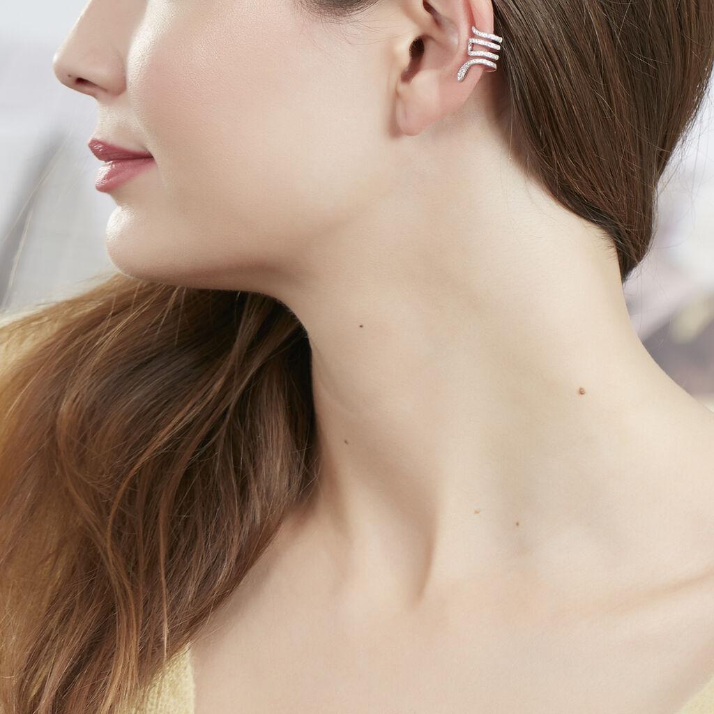 Bijoux D'oreilles Rezia Argent Blanc Oxyde De Zirconium - Boucles d'oreilles fantaisie Femme | Histoire d'Or