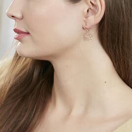 Boucles D'oreilles Pendantes Rosita Argent Rose - Boucles d'oreilles fantaisie Femme | Histoire d'Or