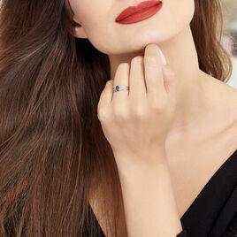 Bague Sylvestine Or Blanc Saphir Et Diamant - Bagues solitaires Femme | Histoire d'Or