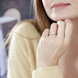 Bague Kate Or Rose Diamant - Bagues solitaires Femme   Histoire d'Or