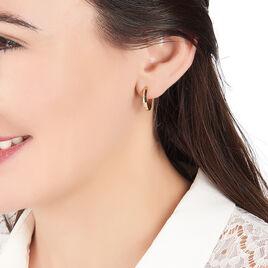 Créoles Dalia Plaque Or Jaune - Boucles d'oreilles créoles Femme | Histoire d'Or
