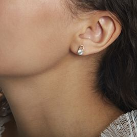 Boucles D'oreilles Puces Or Jaune Berecyntia Topaze - Clous d'oreilles Femme   Histoire d'Or